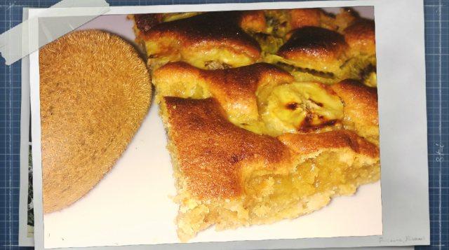 Gâteau banane et kiwi farine épeautre