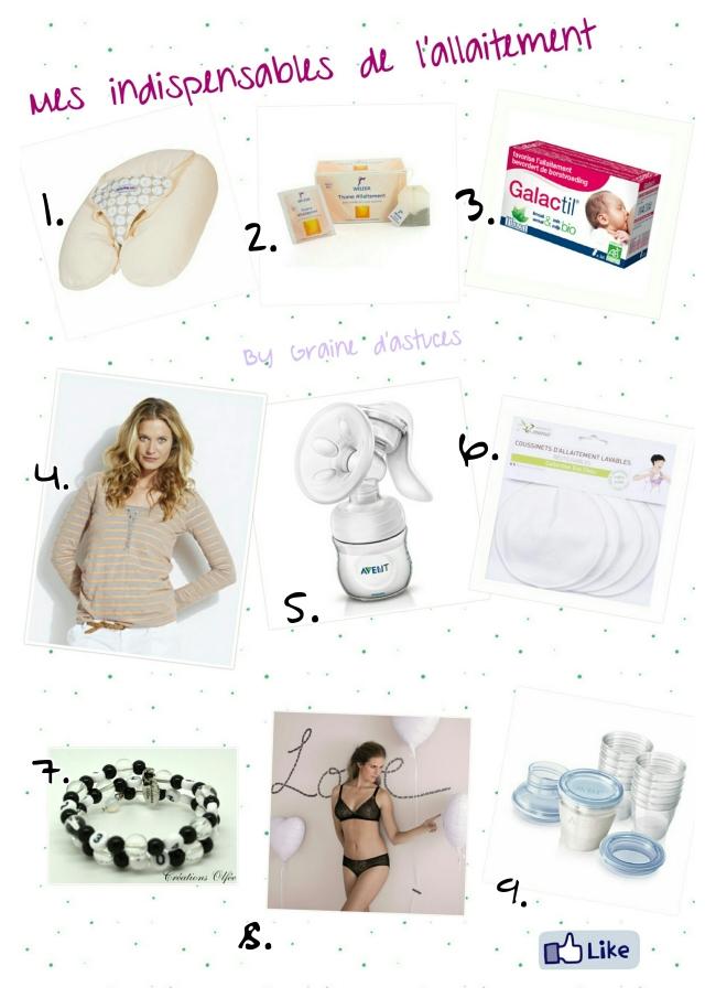 accessoires utiles allaitement