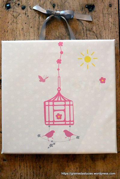 tableau enfant personnalisé avec prénom lili pouce