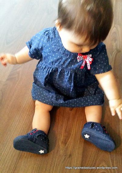 robe tape a l'œil bébé