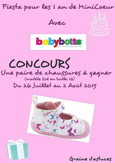 concours babybotte
