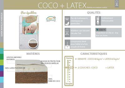 matelas coco latex kadolis