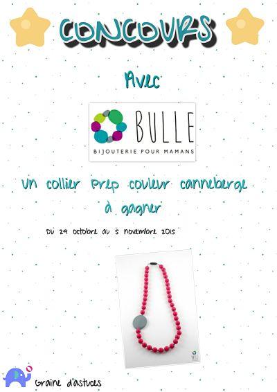 concours bijou collier bulle bijouterie