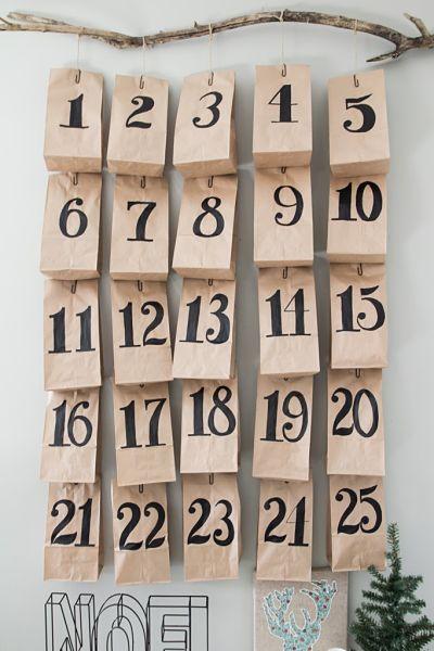 calendrier avent bois