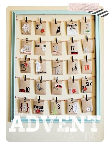 calendrier avent pochettes DIY