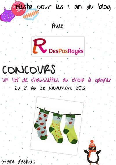 concours chaussettes DesPasRayés