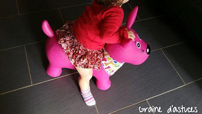chien sauteur ludi rose