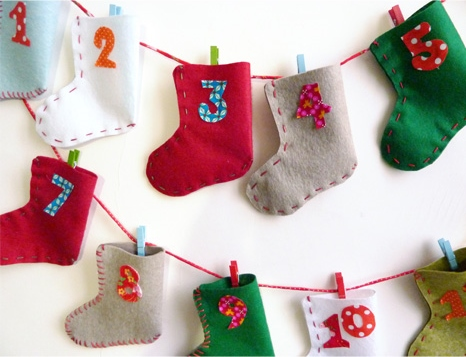 calendrier avent DIY chaussettes