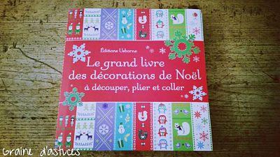 usborne le gran livre des décorations de noël à découper, plier et coller