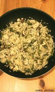 recette riz risotto aux haricots et champignons