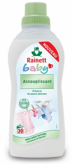 assouplissant linge bébé rainett baby
