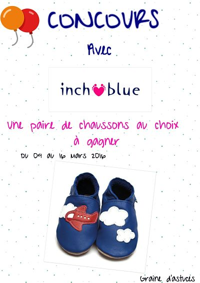 chaussons cuir inch blue avion