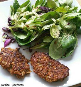 recette galettes végétales au boulgour