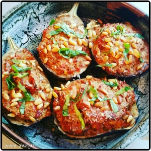 aubergines farcies sans viande recette