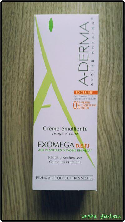 Crème émolliente exomega defi a-derma test et avis