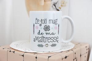 mug merci remerciement maitresse