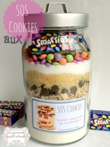 bocal sos cookies aux smarties