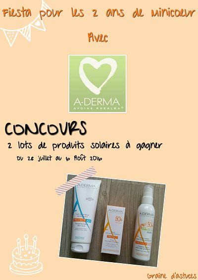 concours aderma blog