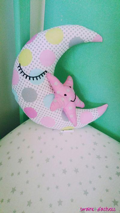 doudou lune et son bébé étoile nana et nono by C.G.