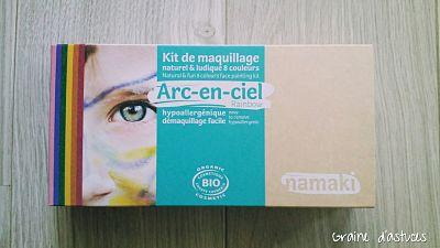maquillage namaki arc en ciel